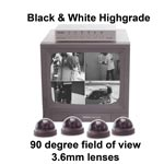VSS40-DM - Black and White 4 Dome Camera Security System