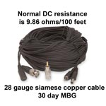 CAB-BNC-25  - 25 ft BNC To BNC Heavy Duty Coaxial Cable