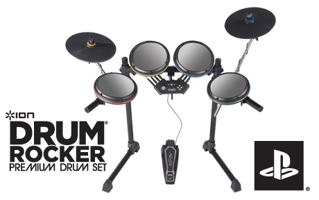 ION IED08 Drum Rocker PS3/PS2 Rock Band Electronic Drum Set