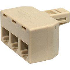 300-124 - 4-Conductor 3-Line Split Adapter
