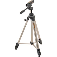 620-080 - Tripod with 3-Way Panhead Bubble Level and Second Quick-Release Platform