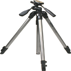 620-330 - Alloy Tripod with Quick-Release Plate and 3-Way Panhead