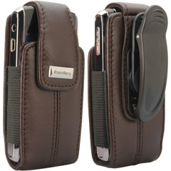 81694RIM - Leather Vertical Pouch with Belt Clip
