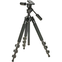 ELCARMA-540 - 4-Section Carbon Fiber Tripod with PH-250B Magnesium Head