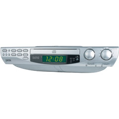jwin jl k733 under cabinet cd player with am fm dual alarm clock radio. Black Bedroom Furniture Sets. Home Design Ideas