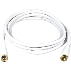 PH61235 - RG6 Cables with F Connectors (White)