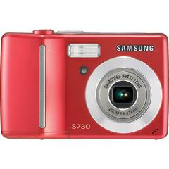 S730RED - 7.2MP Camera with 3x Optical Zoom and 2.5 LCD