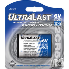UL-2CR5 - 6V Photo Lithium Battery Retail Packs