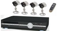 "QT7DVR4C-320 - $599.99  - 7"" Flip Screen Built-into 4 Channel MPEG4 DVR 320GB HDD 4 CCD Cameras"