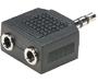 251-130 - 2 3.5mm Stereo Jacks to 1 3.5mm Plug
