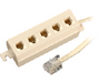300-142 - 4-Conductor 5-Outlet Modular Extension