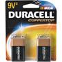 9V/2 DURACELL - 9V Alkaline Battery Retail Pack