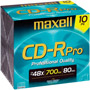 CD-RPRO/10PK - 48x Professional-Quality Write-Once CD-R
