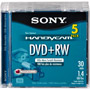 DPW-30/5 - 8cm Rewritable DVD+RW for Camcorders