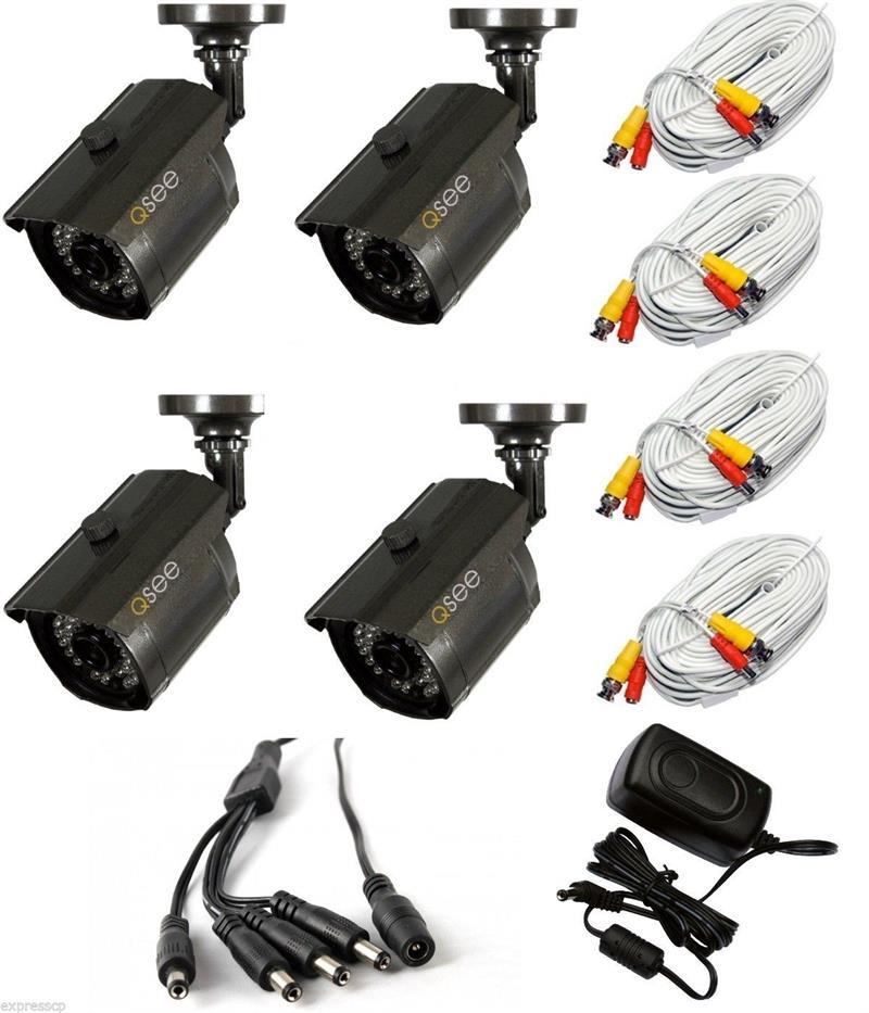 Q-See QM9902B-4 4-Pack 960H/900 TVL Bullet Cameras 100 ft Night ...